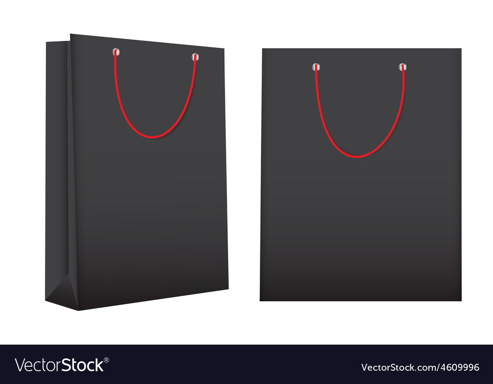Shopping bag template for advertising and branding vector | Price: 1 Credit (USD $1)