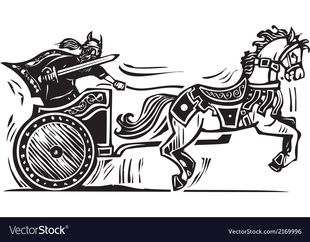 Viking chariot vector | Price: 1 Credit (USD $1)
