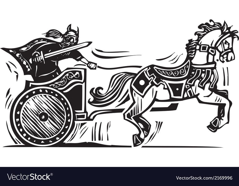 Viking chariot vector | Price: 1 Credit (USD $1)