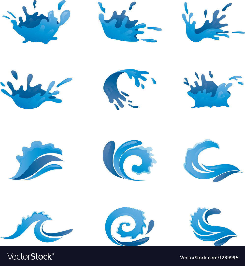 Water set vector | Price: 1 Credit (USD $1)