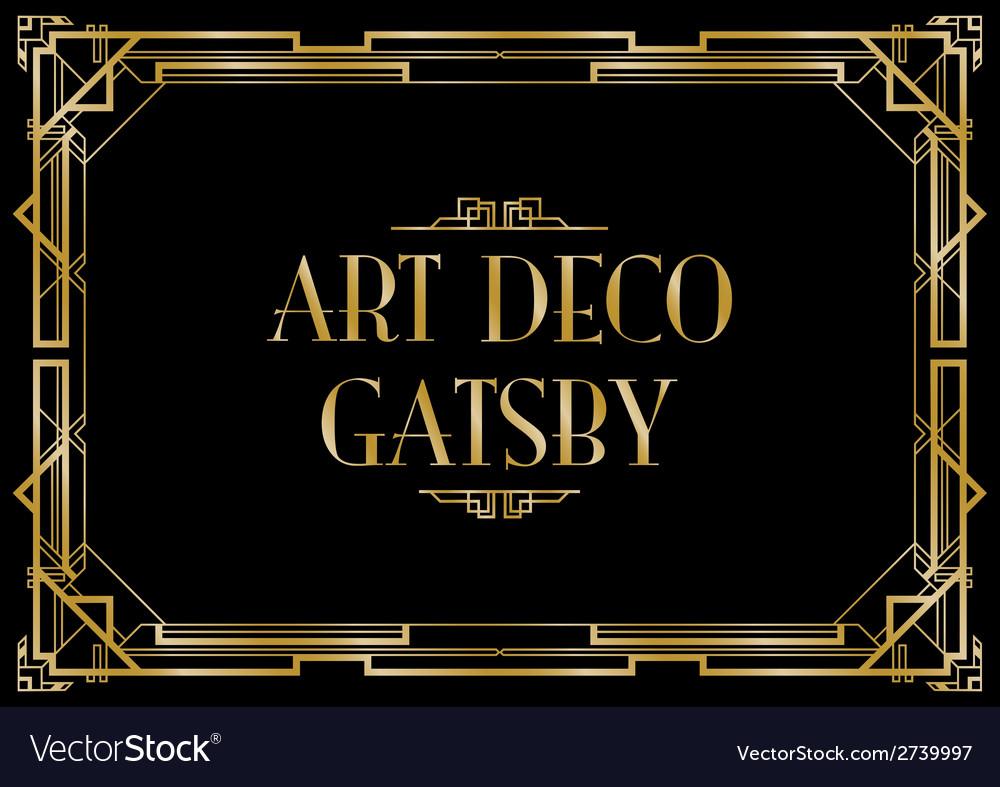 Art deco gatsby vector | Price: 1 Credit (USD $1)