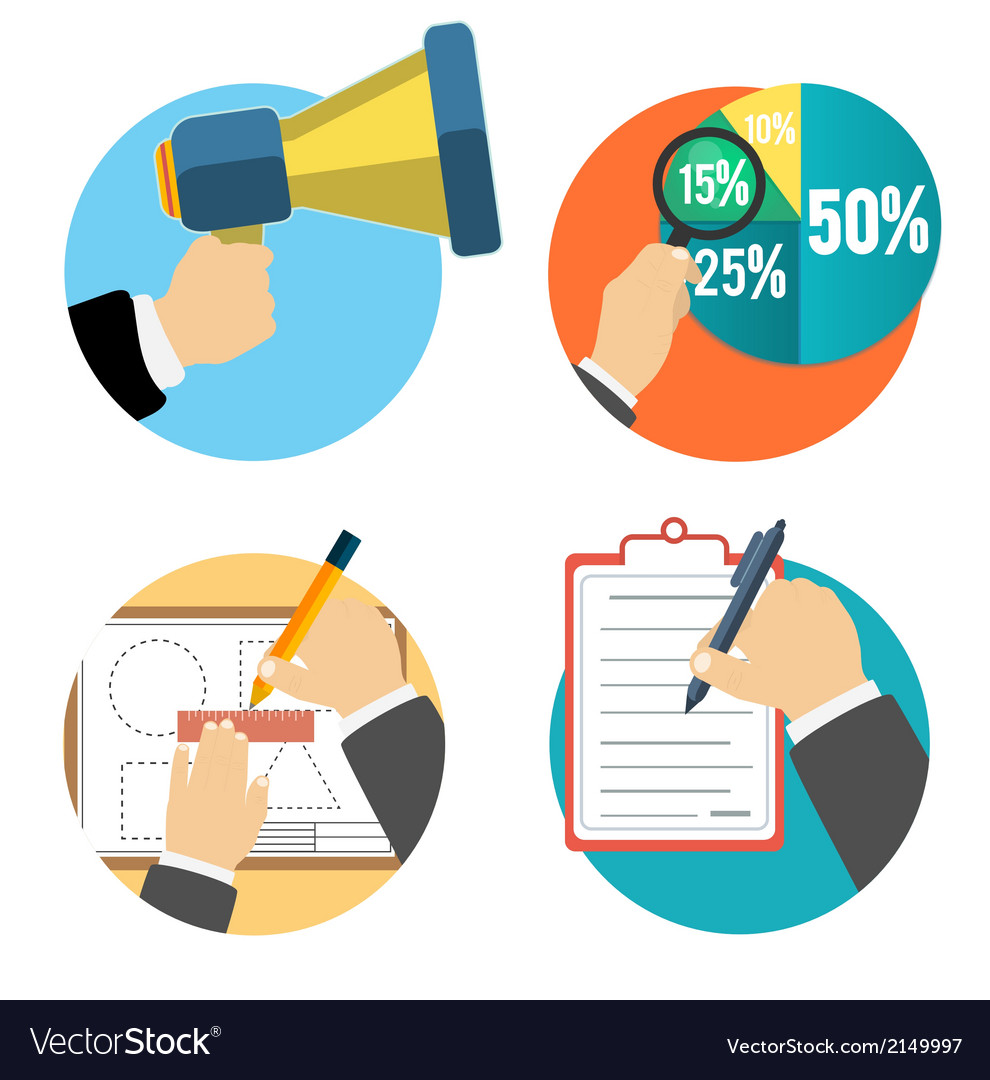 Business office and marketing items icons vector   Price: 1 Credit (USD $1)