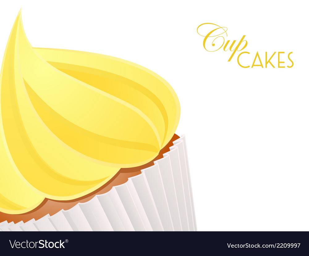 Cupcake close up background3 vector | Price: 1 Credit (USD $1)