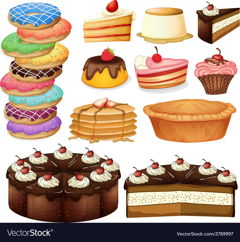 Desserts vector | Price: 1 Credit (USD $1)