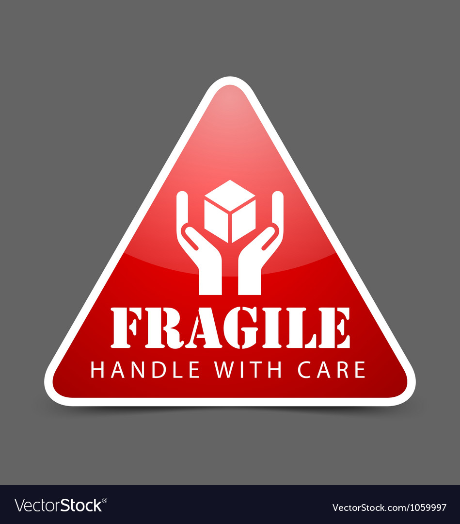 Fragile icon vector | Price: 1 Credit (USD $1)