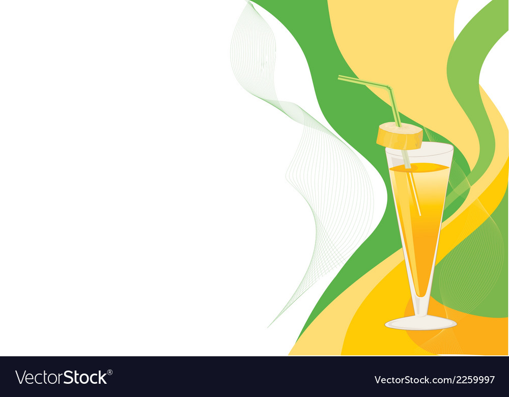 Green and yellow cocktail card vector | Price: 1 Credit (USD $1)