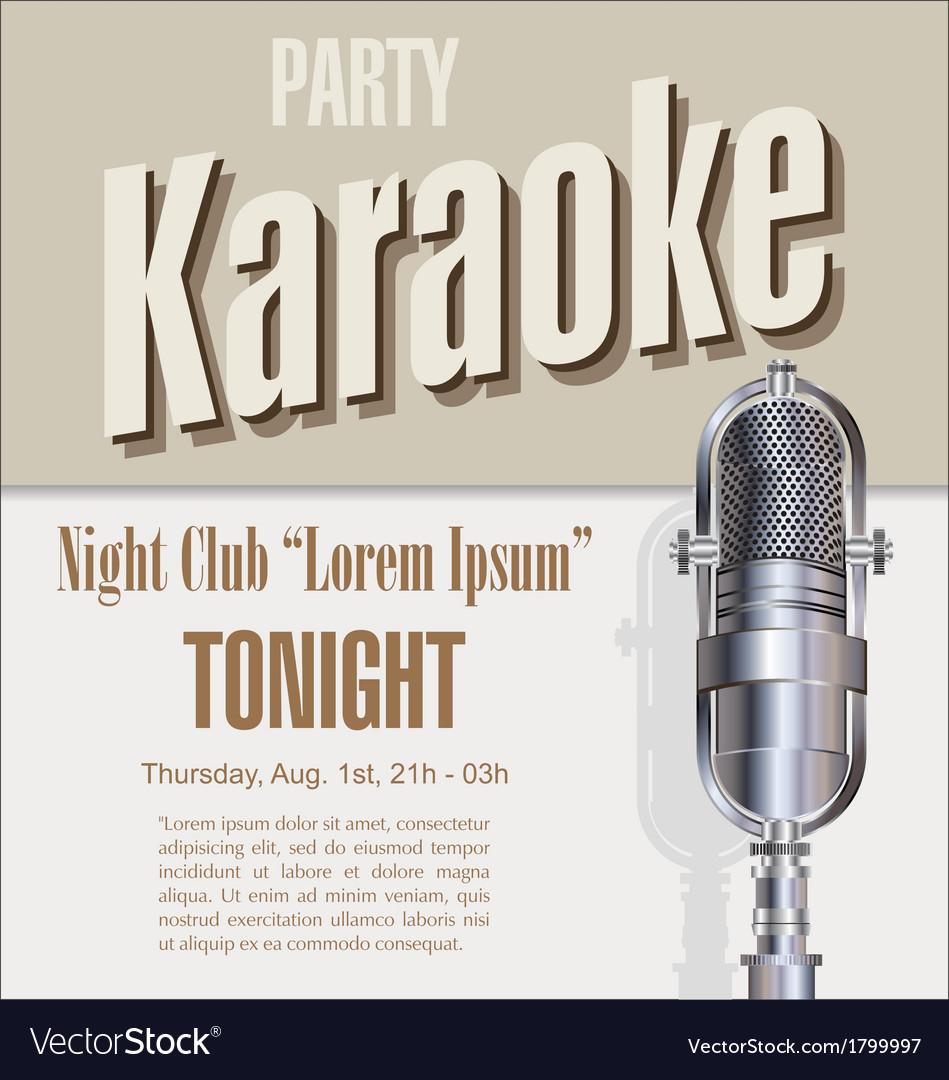 Karaoke background vector | Price: 1 Credit (USD $1)