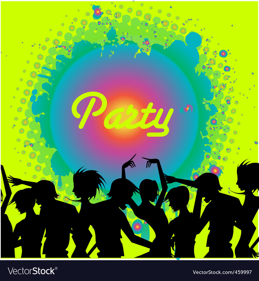 People dancing in the club vector | Price: 1 Credit (USD $1)