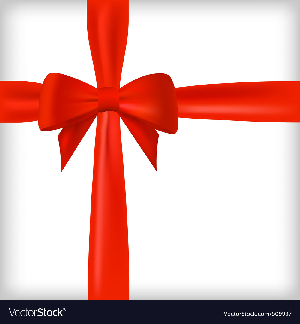 Realistic red bow and ribbon vector   Price: 1 Credit (USD $1)