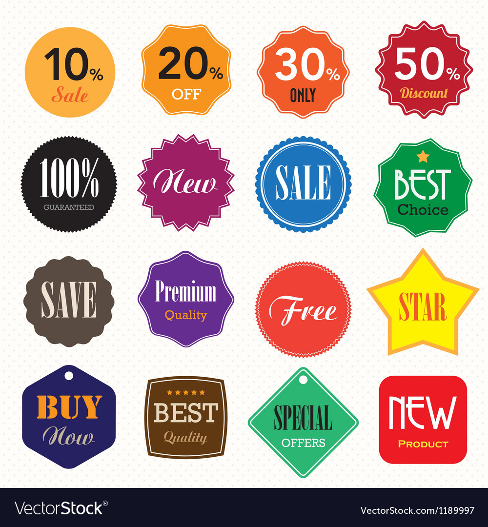 Set of business vintage badges and labels vector | Price: 1 Credit (USD $1)
