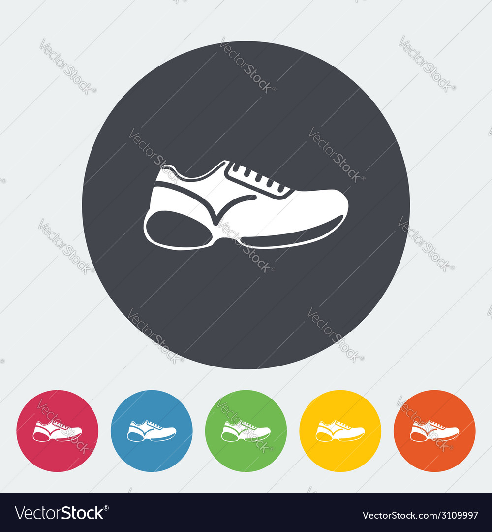 Shoes icon vector