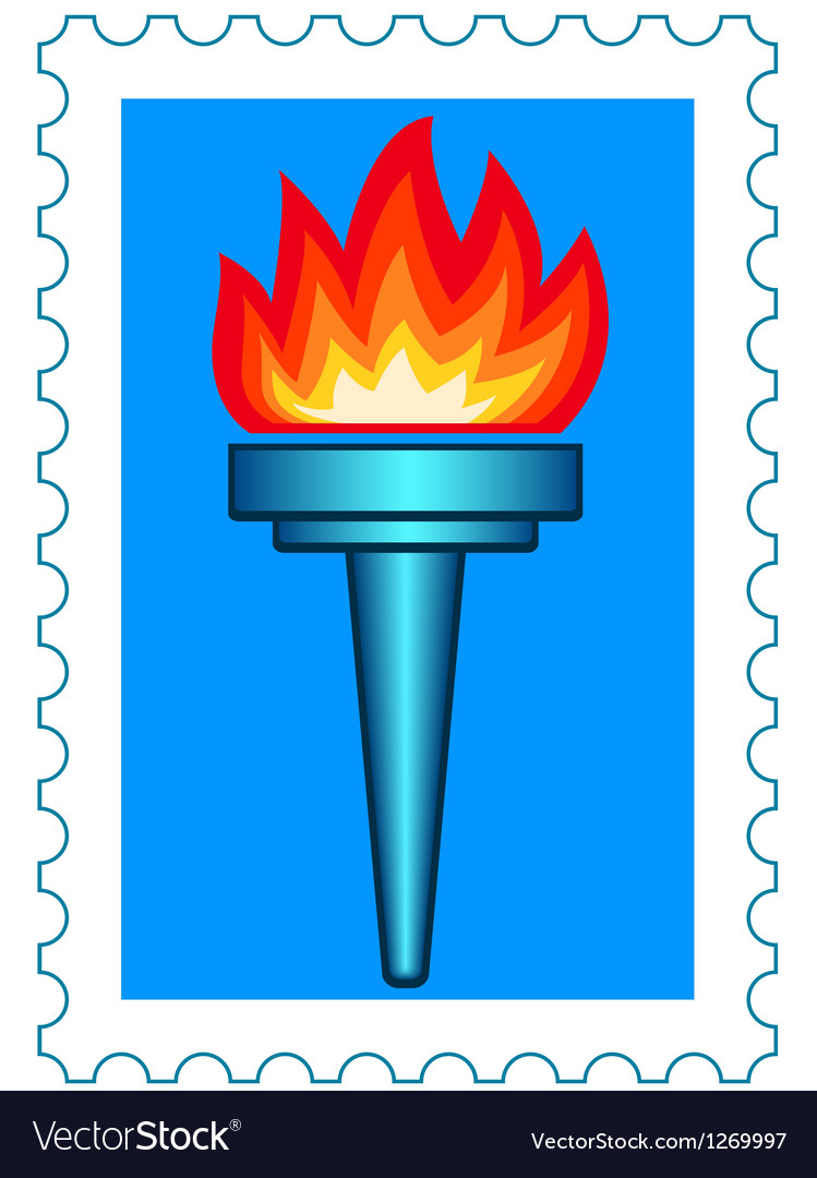 Torch stamp vector | Price: 1 Credit (USD $1)