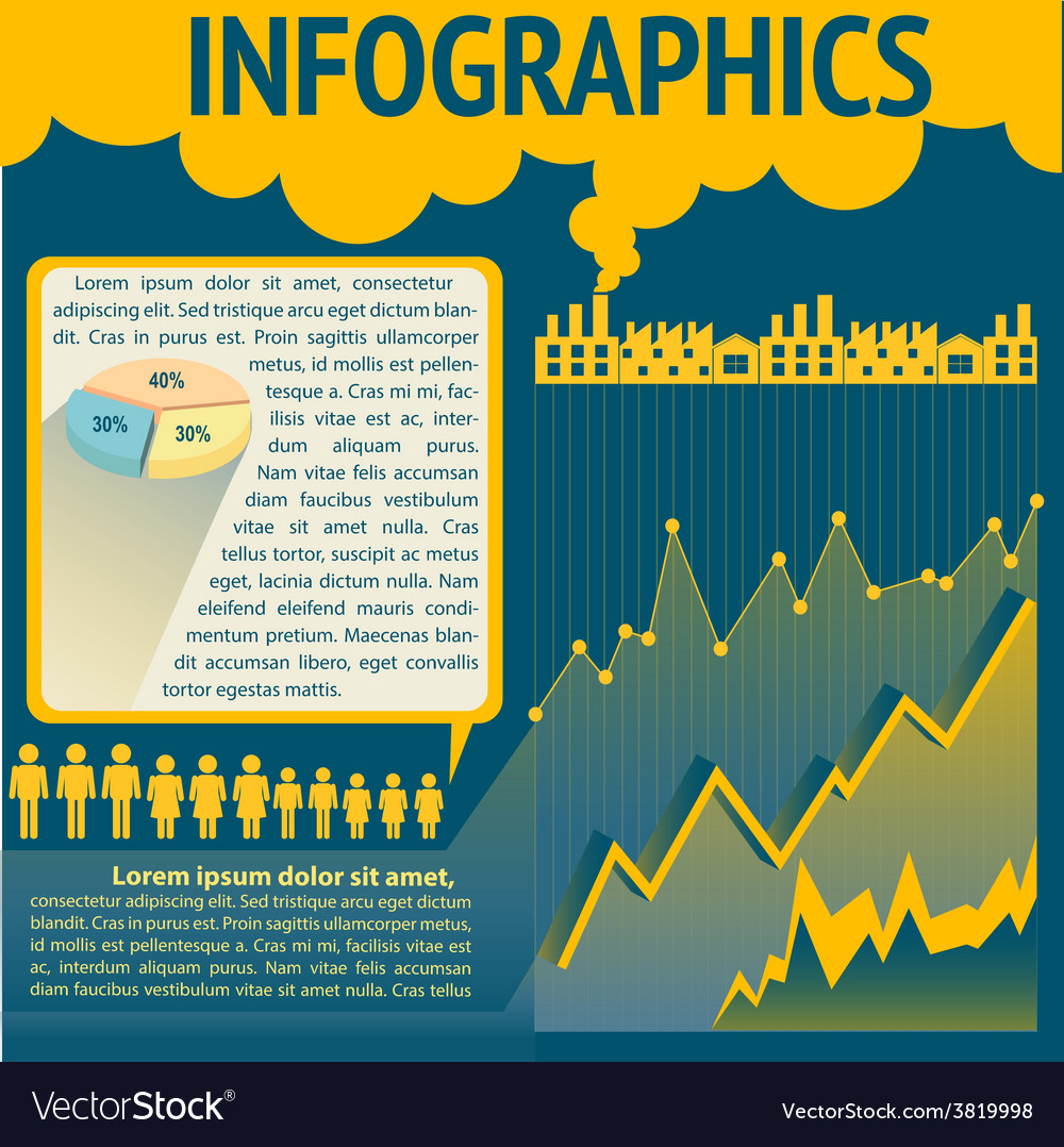 A blue and yellow infochart vector | Price: 1 Credit (USD $1)