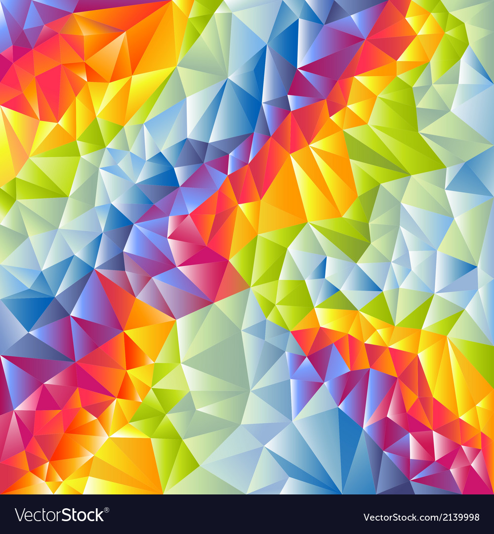 Abstract multicolored triangles background vector | Price: 1 Credit (USD $1)