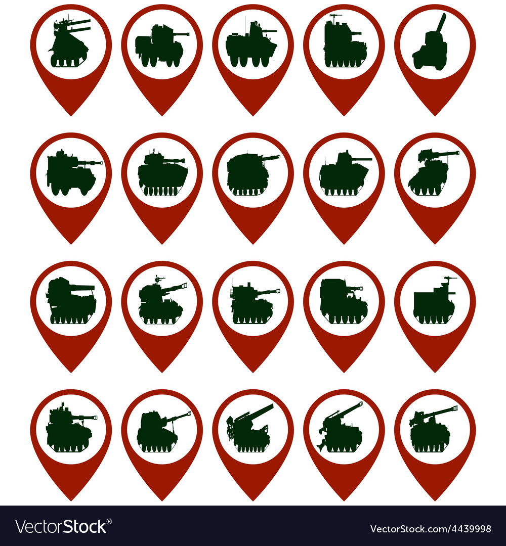 Badges with armored vehicles vector | Price: 1 Credit (USD $1)