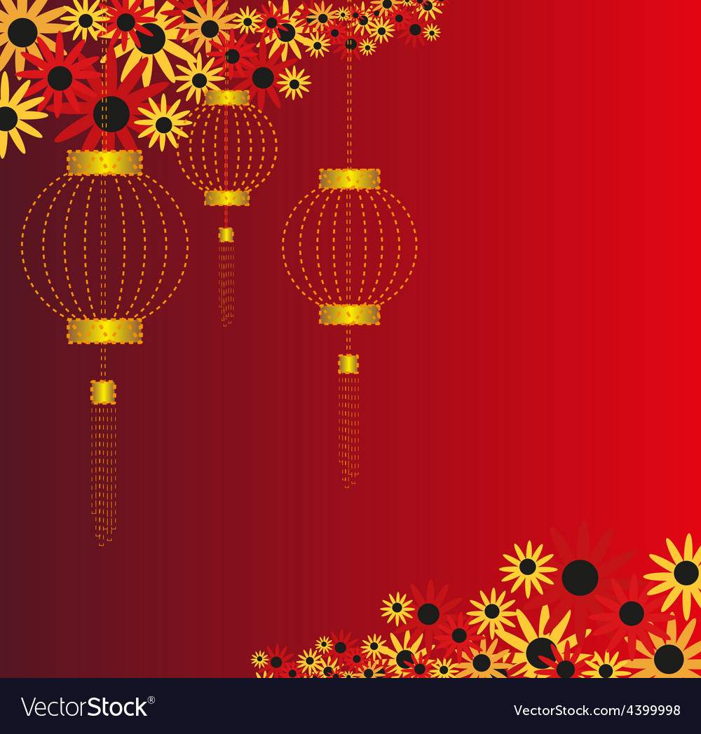 Chinese lantern background vector | Price: 1 Credit (USD $1)