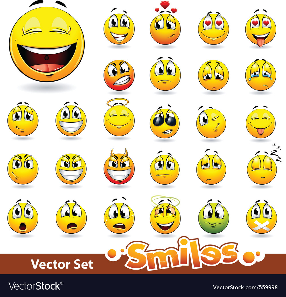 Cute smileballs vector | Price: 3 Credit (USD $3)