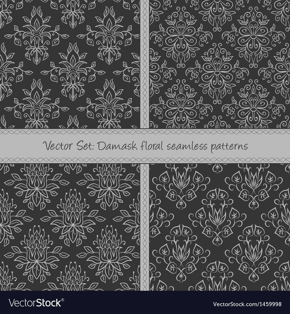 Damask floral textile patter vector | Price: 1 Credit (USD $1)