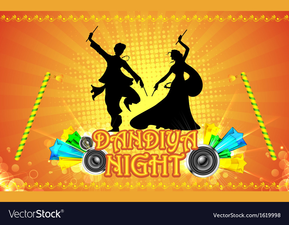 Dandiya night vector | Price: 1 Credit (USD $1)