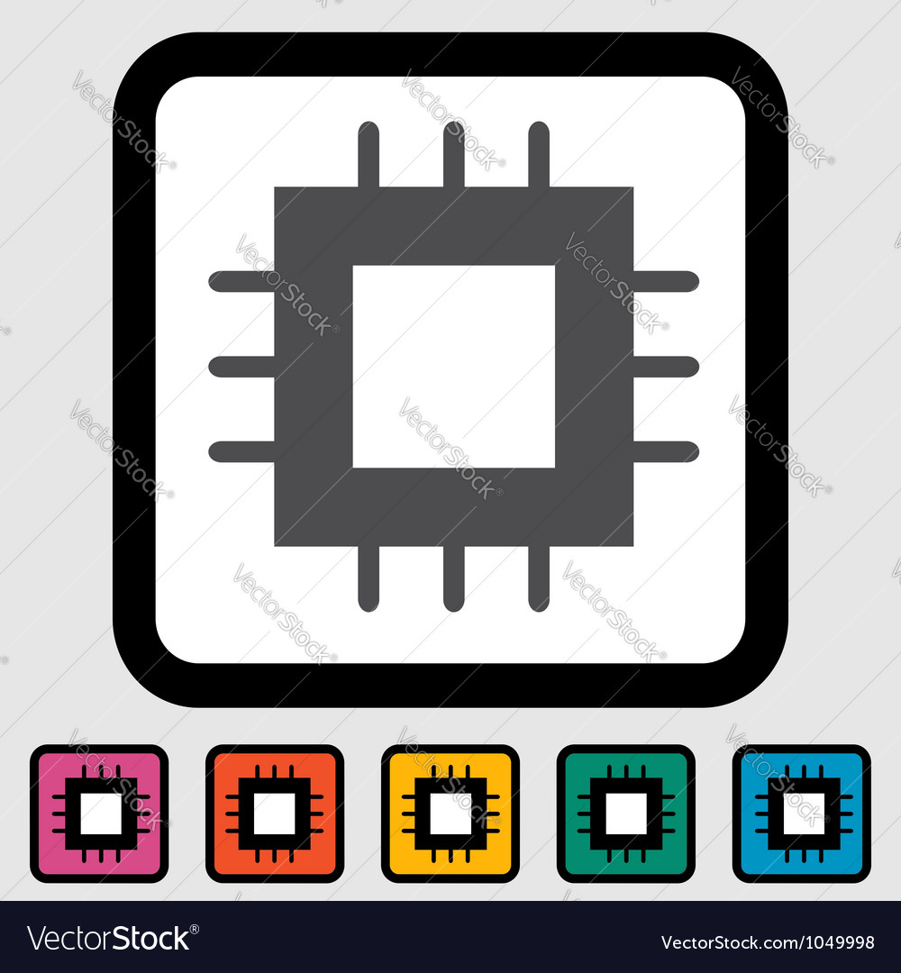 Electronic chip icon vector | Price: 1 Credit (USD $1)