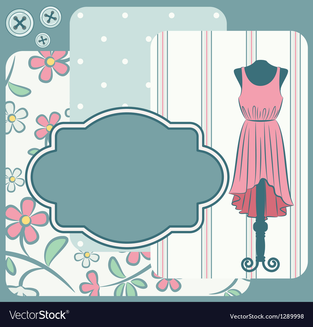 Fashionable dress with flowers vector | Price: 1 Credit (USD $1)