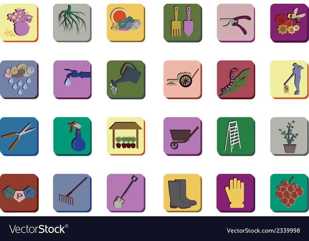 Gardenning icon set vector   Price: 1 Credit (USD $1)