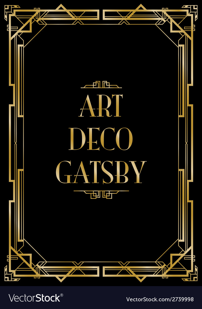 Gatsby art deco background vector | Price: 1 Credit (USD $1)
