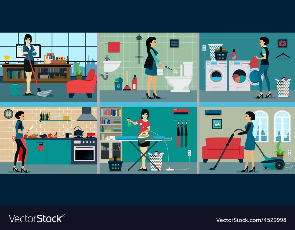 Housewife vector   Price: 1 Credit (USD $1)