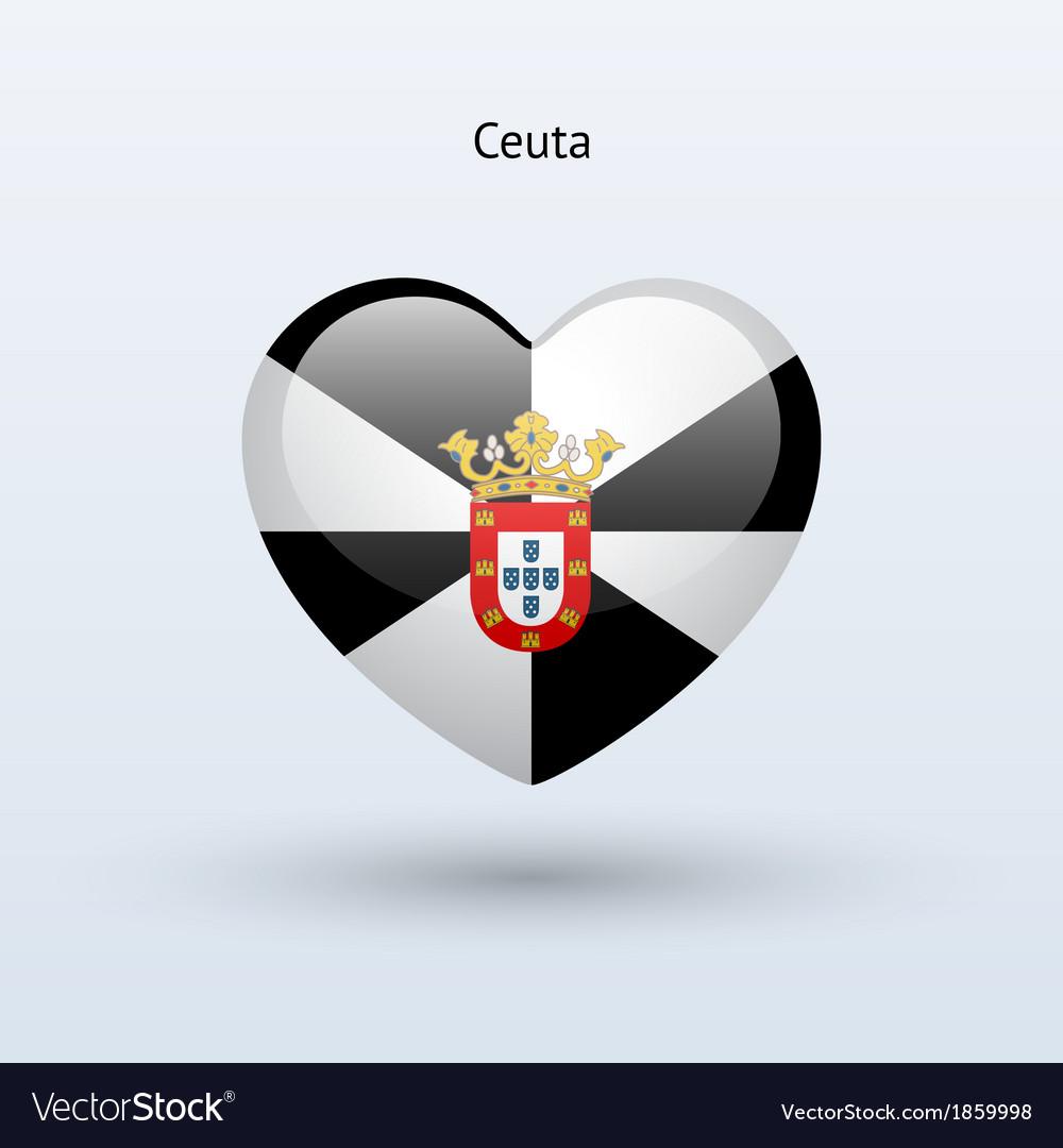 Love ceuta symbol heart flag icon vector | Price: 1 Credit (USD $1)