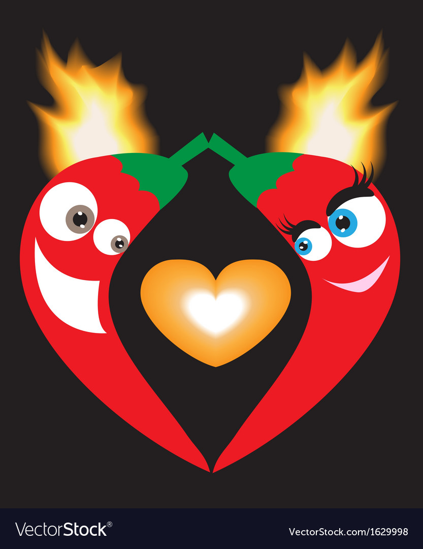 Love peppers vector   Price: 1 Credit (USD $1)