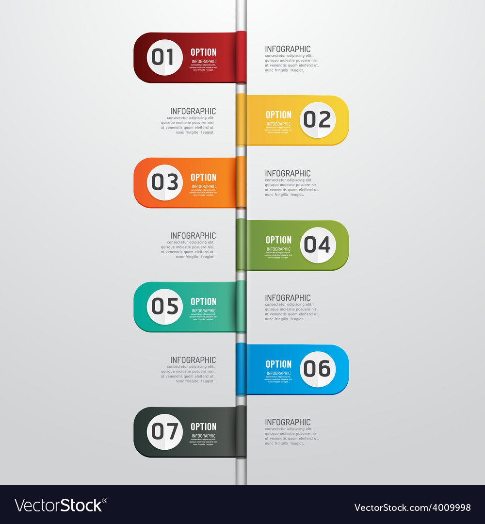 Modern design time line style infographic template vector   Price: 1 Credit (USD $1)