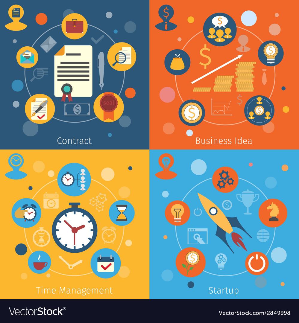 Modern web concepts set vector | Price: 1 Credit (USD $1)