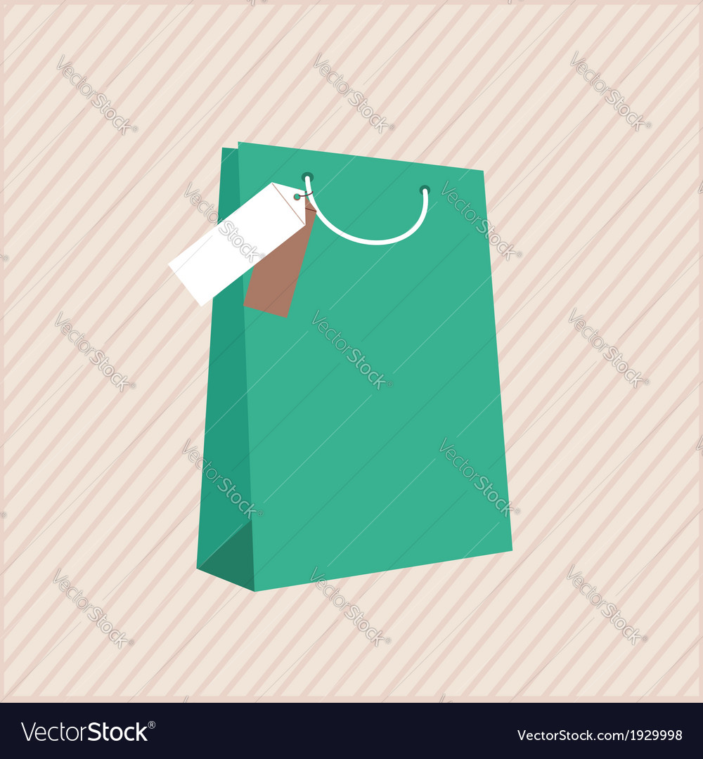 One classic shopping bag vector | Price: 1 Credit (USD $1)