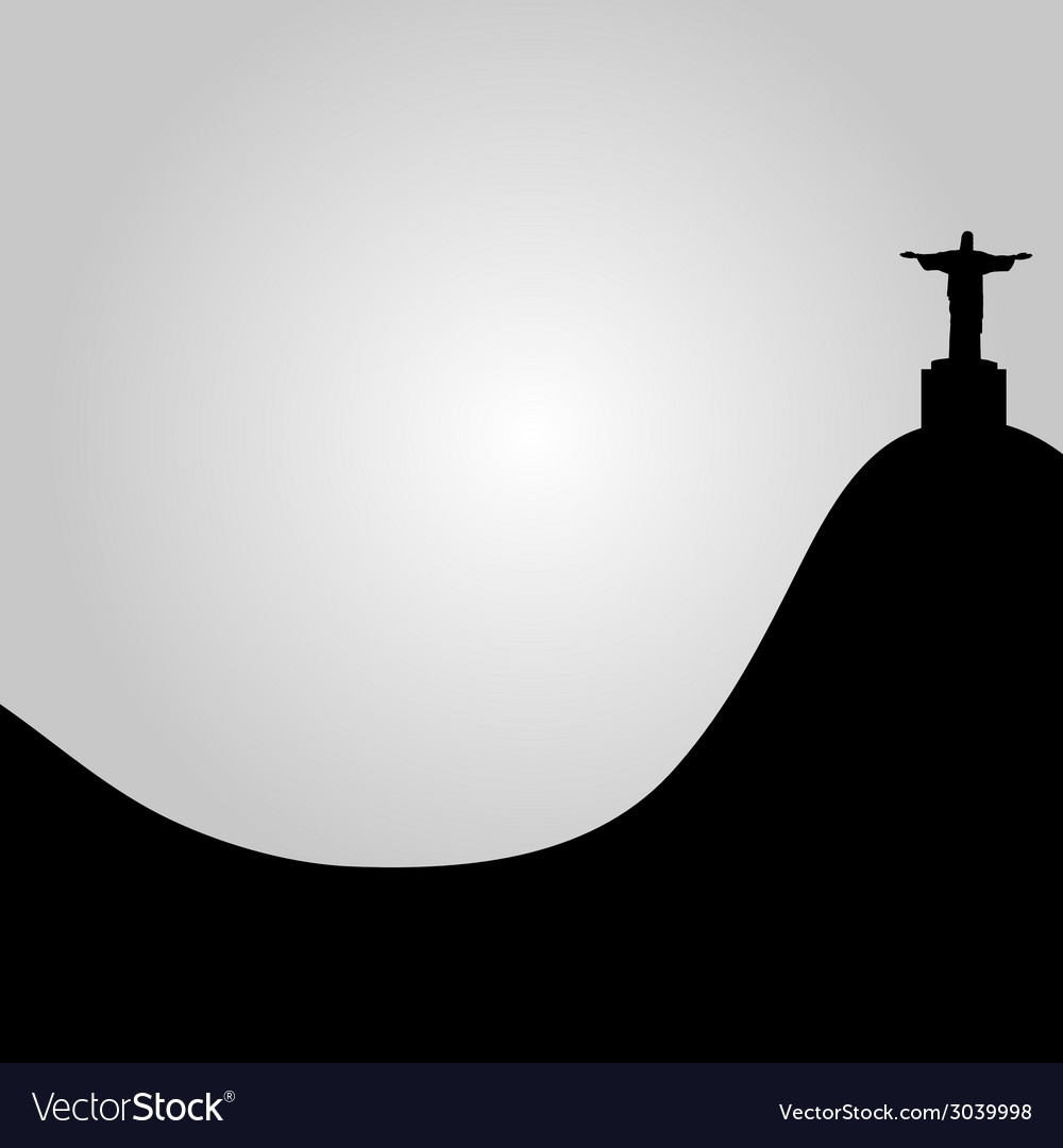 Rio de janeiro view of christ vector | Price: 1 Credit (USD $1)