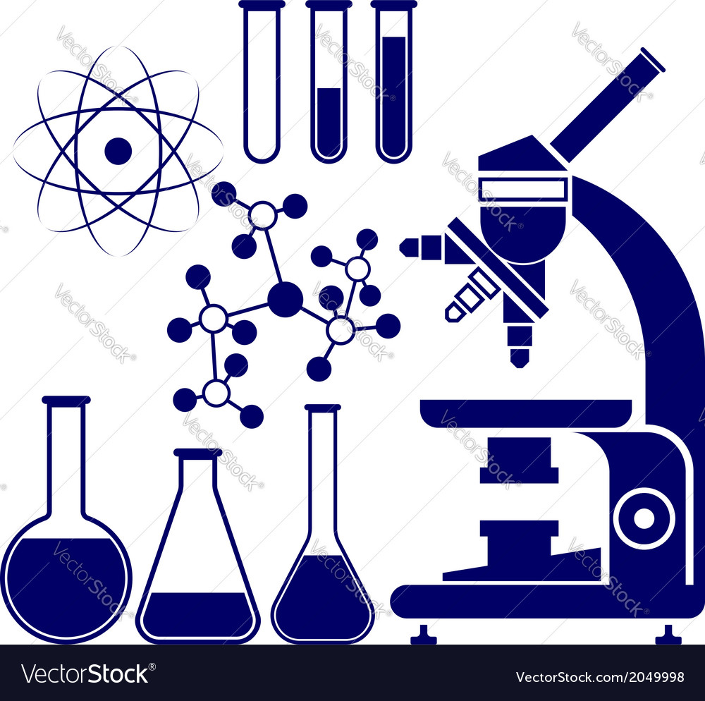 Science and chemistry icons set vector | Price: 1 Credit (USD $1)