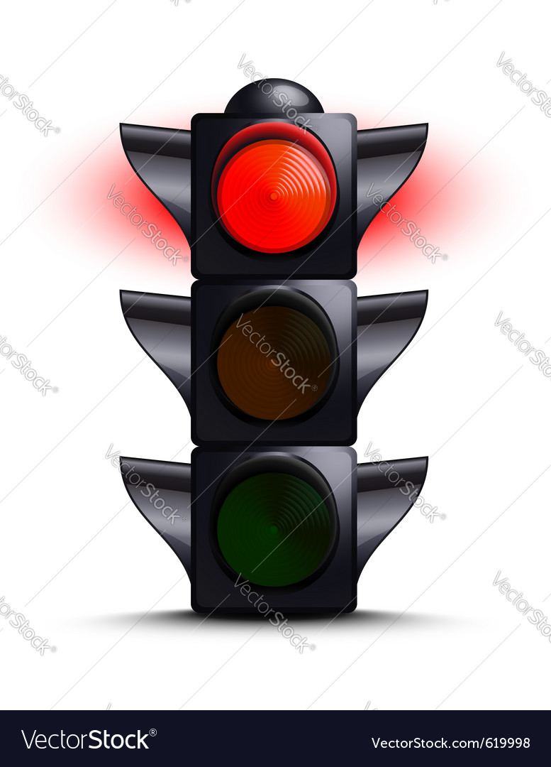 Traffic light on red vector | Price: 1 Credit (USD $1)
