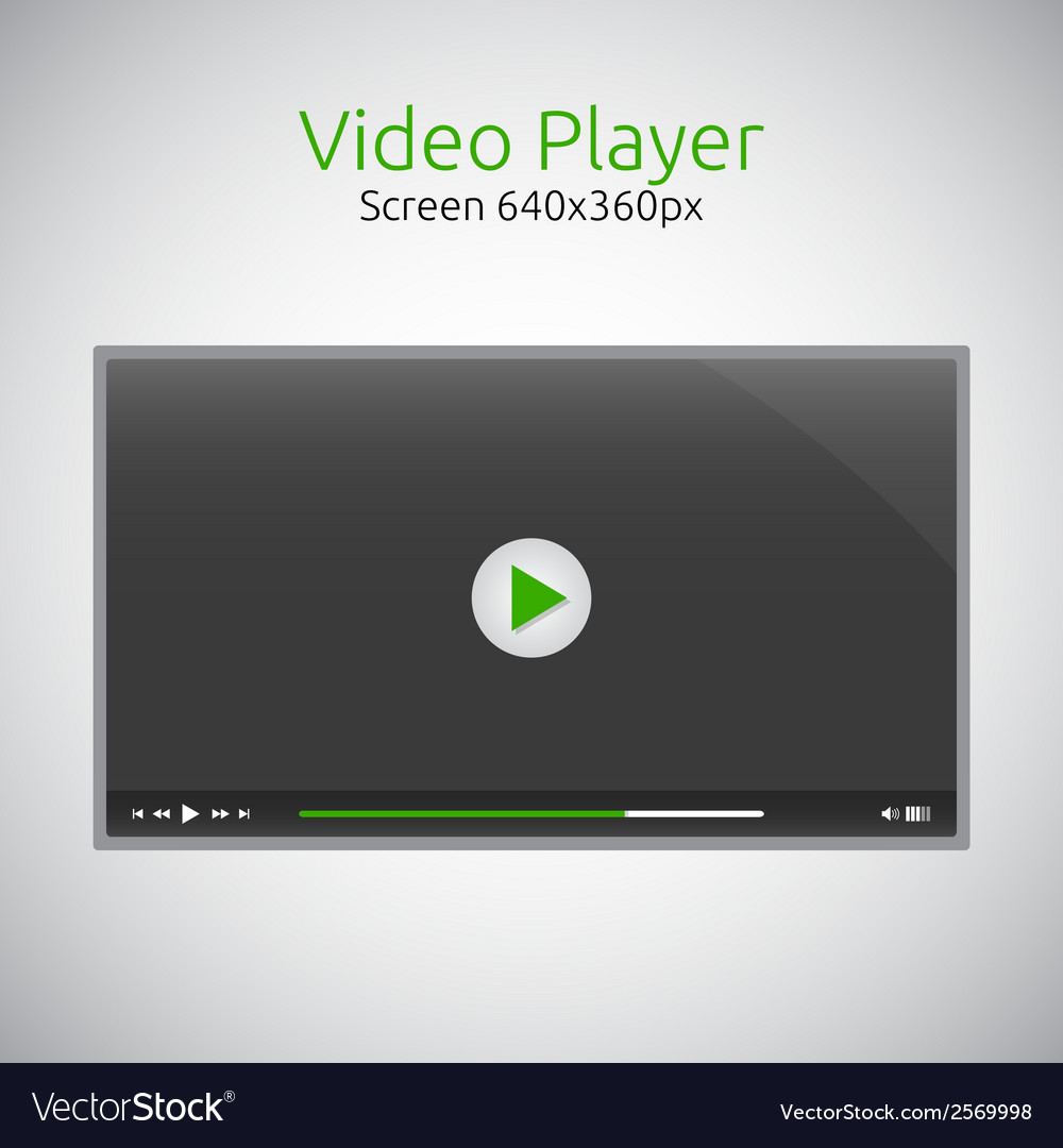 Video player for website vector | Price: 1 Credit (USD $1)
