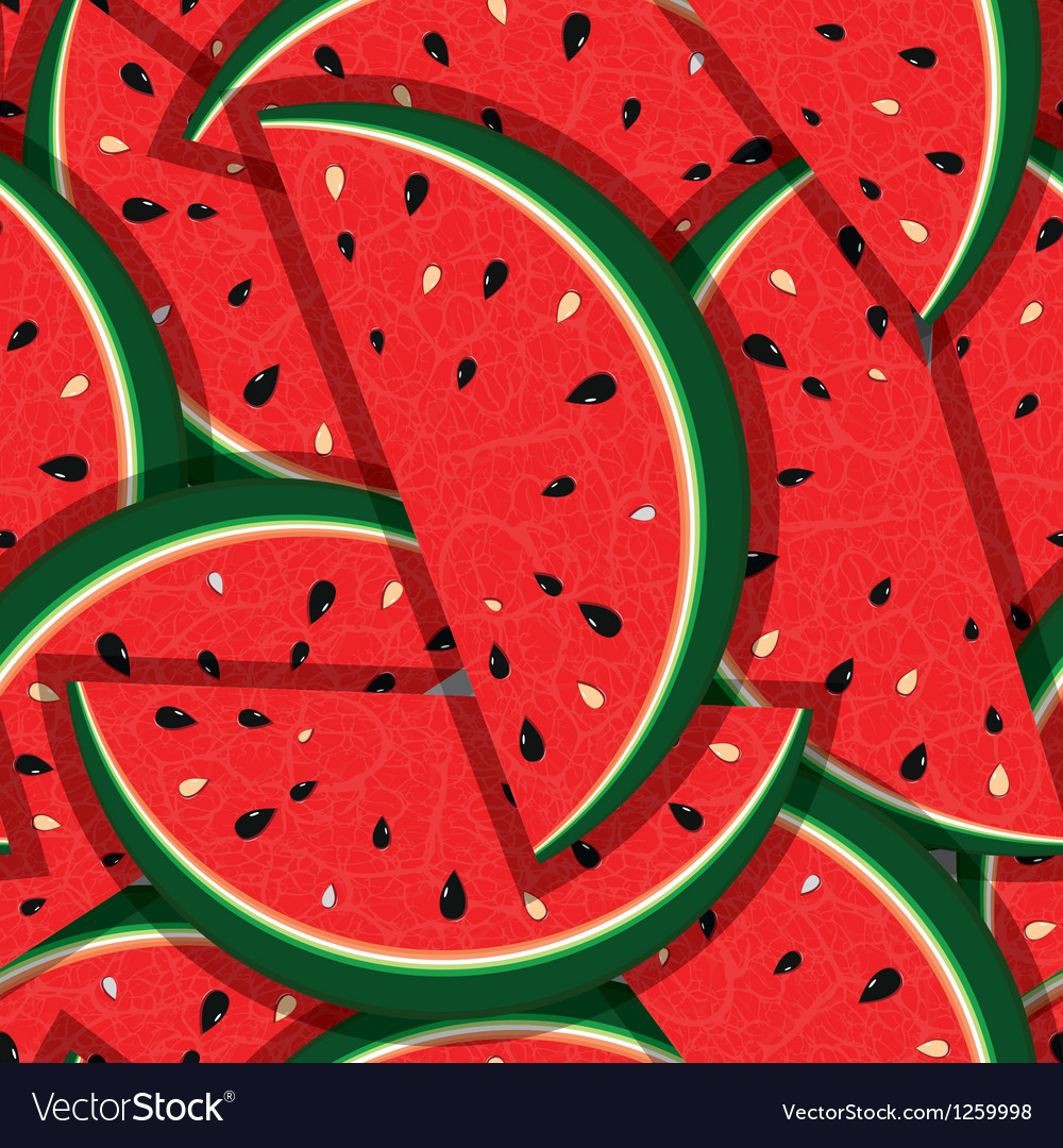 Watermelon fresh slices seamless background vector | Price: 1 Credit (USD $1)