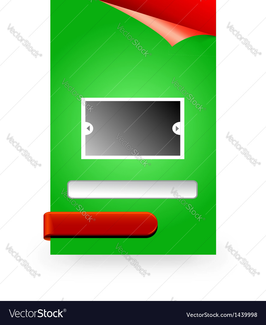 Web message box or opt in box vector | Price: 1 Credit (USD $1)