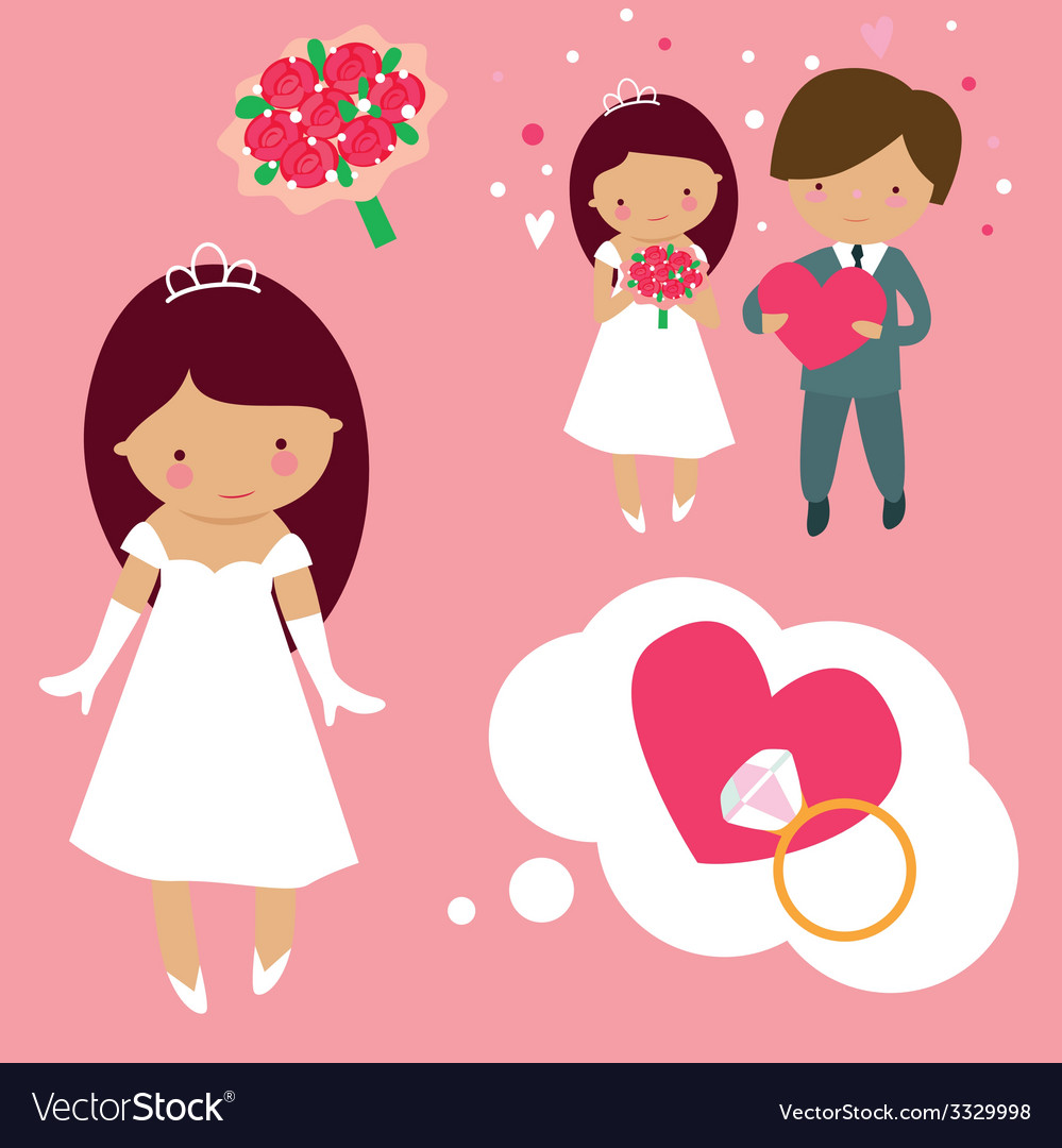 Wedding cartoons vector | Price: 1 Credit (USD $1)