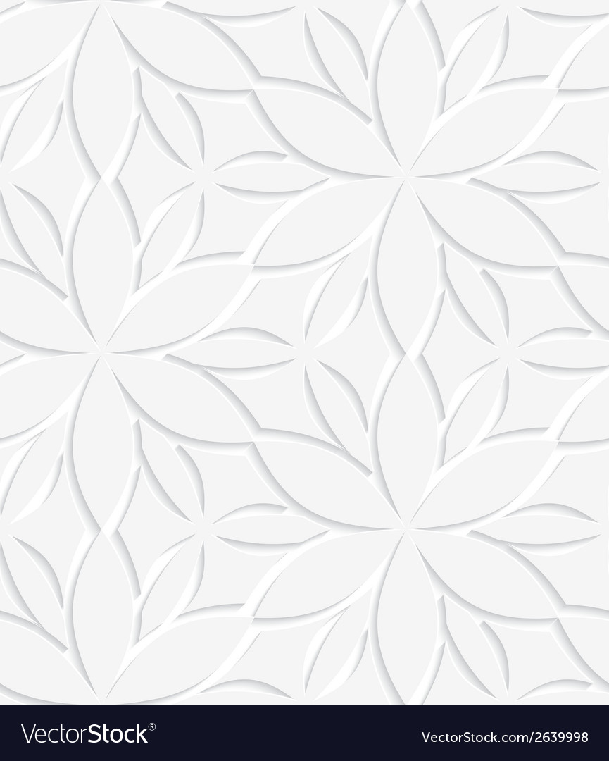 White floral perforated seamless vector | Price: 1 Credit (USD $1)