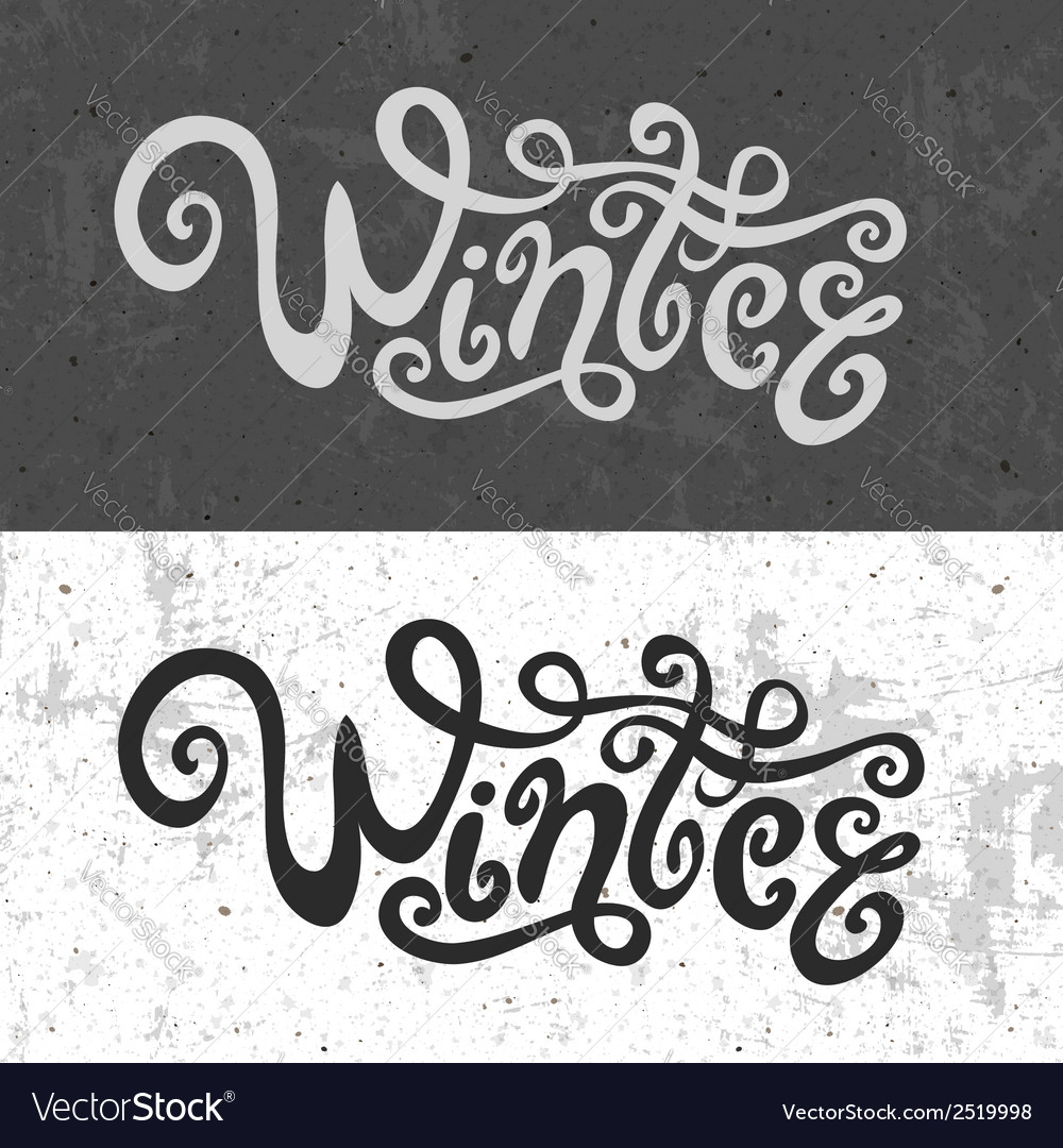 Winter hand lettering - handmade calligraphy vector | Price: 1 Credit (USD $1)