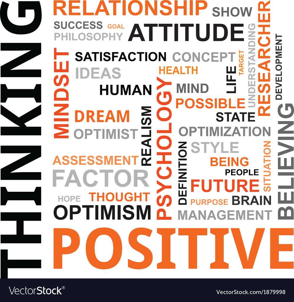 Word cloud positive thinking vector | Price: 1 Credit (USD $1)