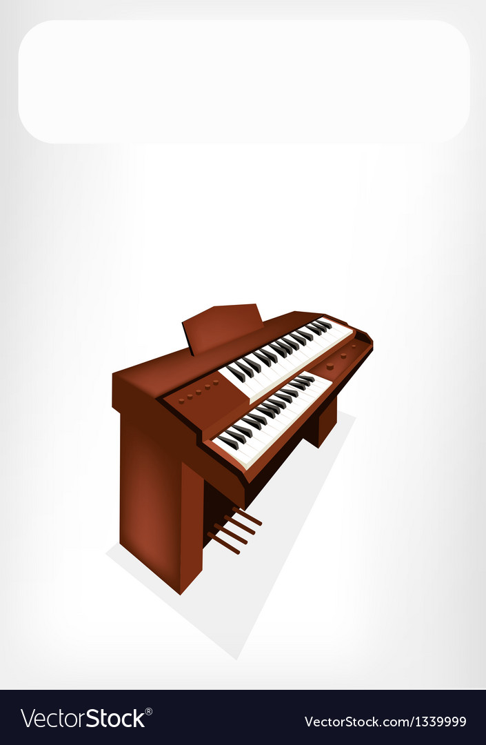 A retro pipe organ with a white banner vector | Price: 1 Credit (USD $1)