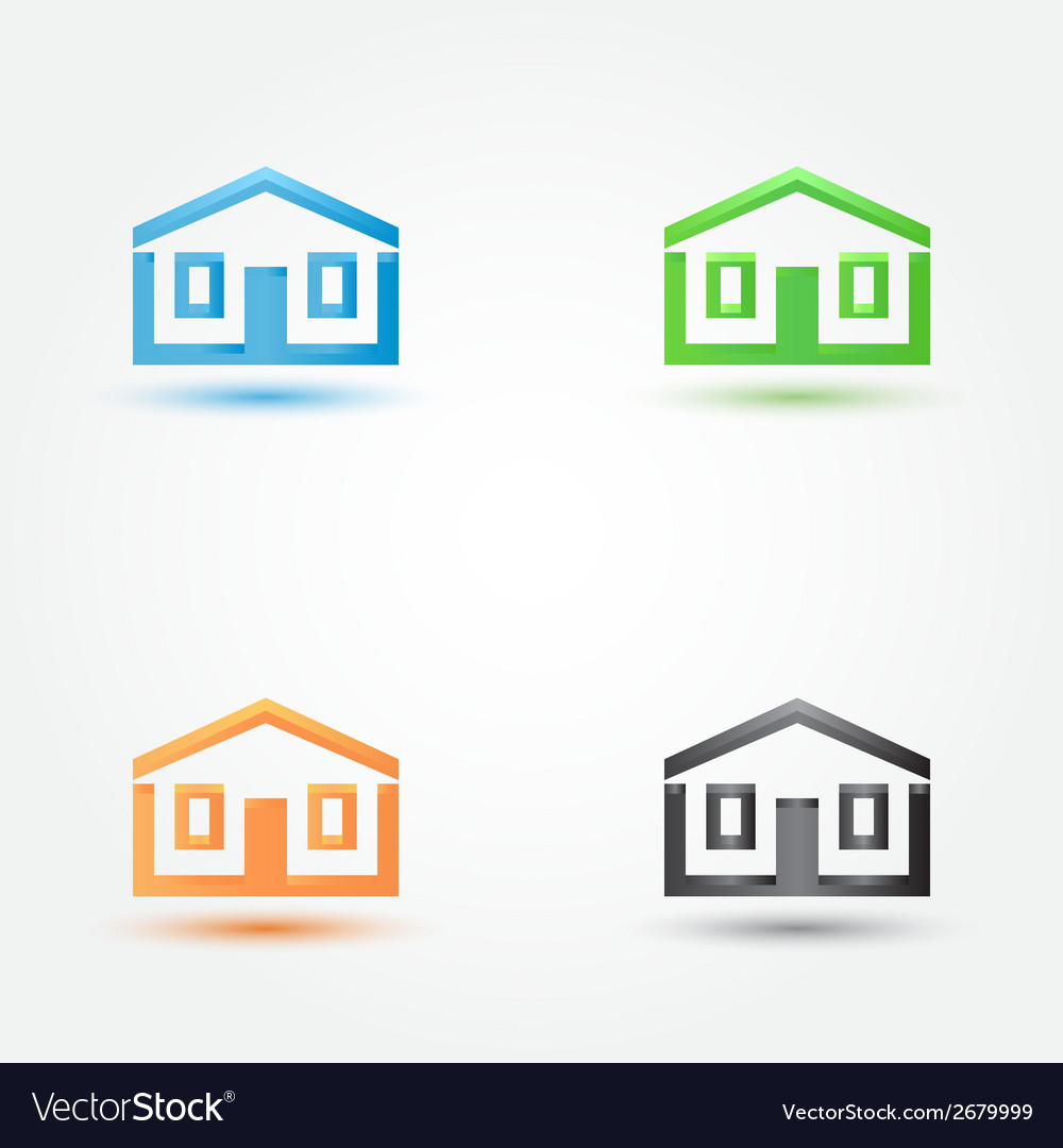 Abstract house real estate symbol - building house vector | Price: 1 Credit (USD $1)