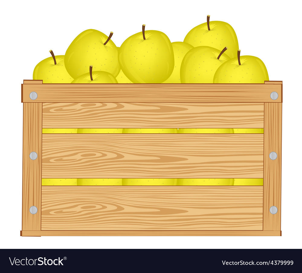 Apple box vector | Price: 1 Credit (USD $1)