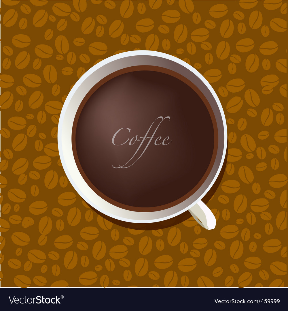 Cup of coffee on background vector | Price: 1 Credit (USD $1)