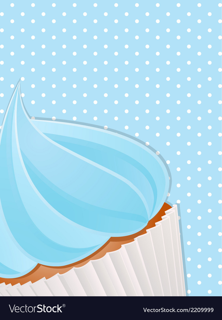 Cupcake close up background4 vector | Price: 1 Credit (USD $1)