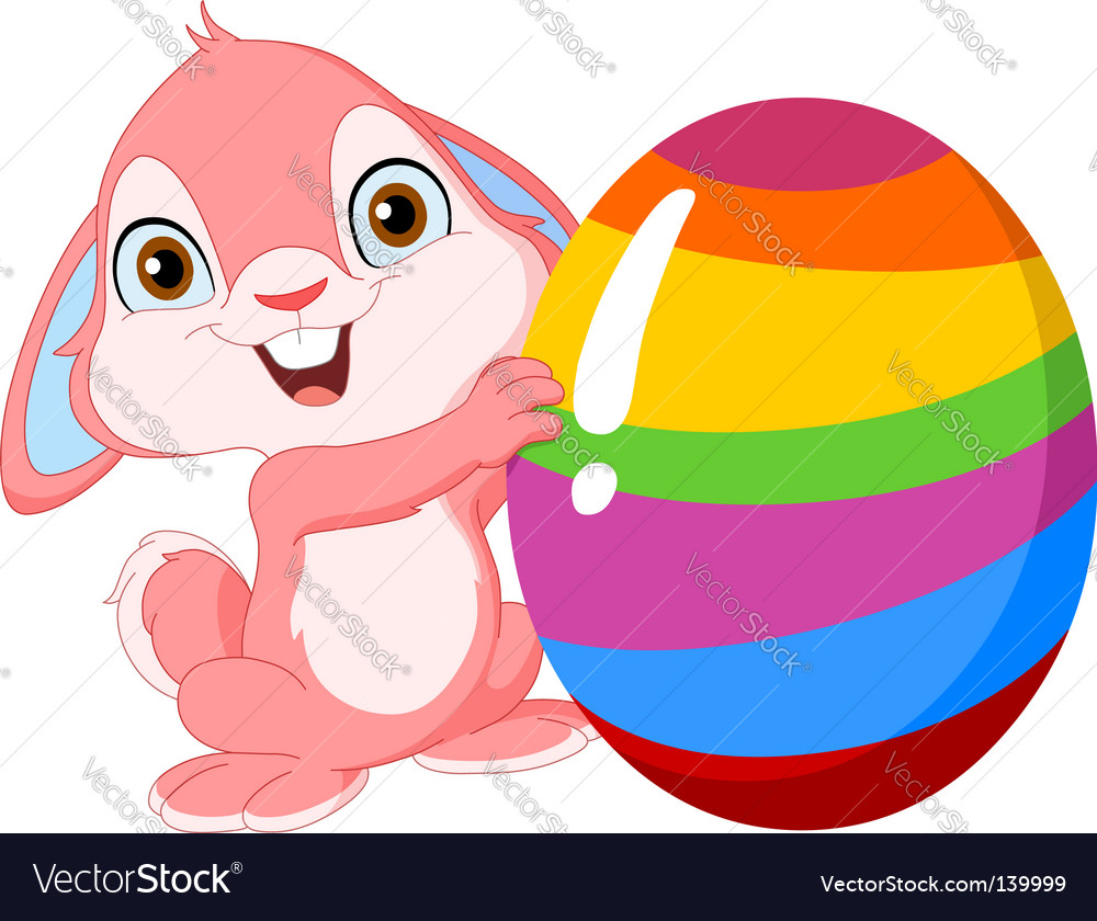 Cute bunny easter vector | Price: 1 Credit (USD $1)