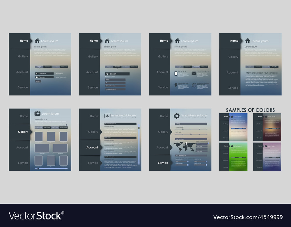 Design template interface vector | Price: 1 Credit (USD $1)